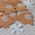 Vánoční dárková kartička stromeček