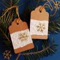 Vánoční kartička s vločkou