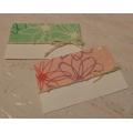 Dárková kartička (nejen) na květinu 2ks