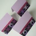 Kartička dárková fialová