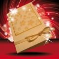 Kartička dárková na dárek krémová