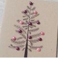 Přání s vánočním stromečkem