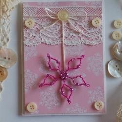 Vánoční přání s růžovou hvězdou