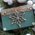 Vánoční přání s béžovou hvězdou