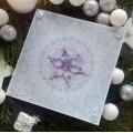 Vánoční přání s fialovou hvězdou