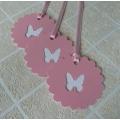 Visačka na dárky s motýlkem