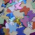 Výseky z kartonu - tvar motýl