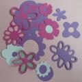 Výseky - růžovo-fialové
