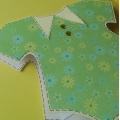 Přání pro miminko - dupačky zelené