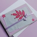 Card with lila flowers
