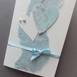 Přání modro-bílé