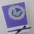 Modro-fialový motýl