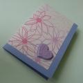 Přání lila se srdíčkem