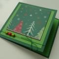 Přání vánoční zelené 1.