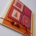 Vánoční přání béžovo-oranžové
