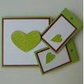 Sada přání s dárkovými kartičkami zelená